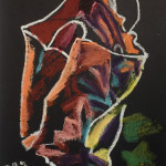 """Bag"" 1995 Oil stick on paper 13.5"" x 18.5"""