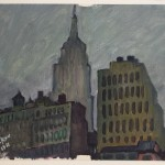 """Empire State Building"" oil on canvas 19''x 16'', 1988"