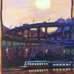 """The A Train"" oil on linen 9""x 12"", 1997"