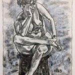 """Nude"" oil stick on paper 16"" x 18"", 1989"