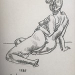 """Reclining Nude"" oil stick on paper 16"" x 18"", 1989"