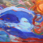 """Reluctant Blue, 60"""" x 84"""""""